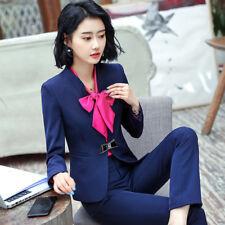 Tailleur completo donna blu giacca a manica lunga e pantalone slim cod 7159 526cf813e672