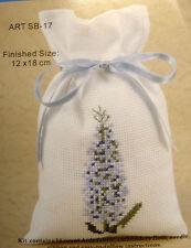 Counted cross-stitch Potpourri Bag kit – Blue Lavender