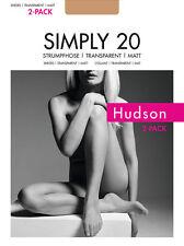"""2er Pack: Hudson """"Simply 20"""" Strumpfhose transparent matt in versch. Farben"""