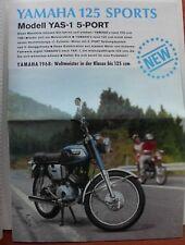Yamaha 125 Sports prospectus 1969 champion du monde 125er Japon