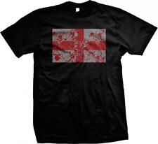 England Spatter Flag Design English Pride Mens T-shirt