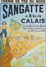 Affiche chemin de fer Nord - Sangatte