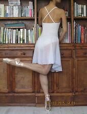 Lady or girl chiffon-skirted ballet lyrical dance cross back dress leotard - New