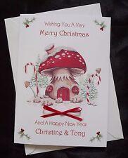 Personalizado Hecho a Mano A5 tarjeta de Navidad-Escena de Navidad lindo (x525)