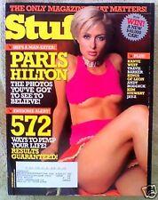 Magazine STUFF OCTOBER 2005 PARIS HILTON ISSUE 71 Kanye West Andy Roddick Stewar