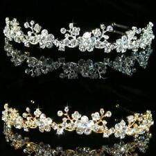 Bridal Bridesmaid Prom made with Swarovski Silver / Gold Plated Tiara T042G