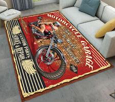 Vintage Poster Motorcycle Beauty Area Rugs Bedroom Floor Carpet Kitchen Mat Rug
