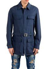 Malo Navy Full Zip Men's Basic Coat Sz M XL 2XL