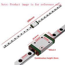 Miniature Rail Guide Slide Linear  Sliding Block CNC Tool 300mm MGN7/9/12/15