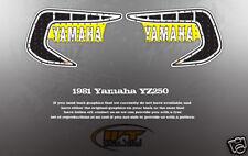 VINTAGE LIKE NOS 1981 YAMAHA YZ250 TANK GRAPHICS