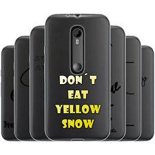 Dessana proverbios negro TPU de silicona, funda protectora, funda, móvil bolso para Motorola