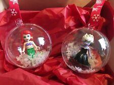 DISNEY VILLAINS Little Mermaid Sleeping Beauty Christmas baubles minifigures