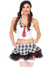 School Girl Uniform Babe Roll Play Womens Lingerie Costume XS-L