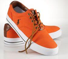 7e6696f9 Polo Ralph Lauren Vaughn Profundo Naranja/Loden Lona Zapatillas Zapatos De  Cubierta De Logotipo - $79