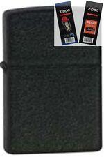 Zippo 236 black crackle cigar Lighter with *FLINT & WICK GIFT SET*