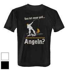 Angeln Herren T-Shirt Fun Shirt Spruch Fischer Angelsport Angler Geschenk Idee