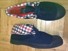 Bensimon Canvas Hi-Top Tennis  Shoes. Color Navy