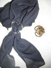 ferma foulard 3 anelli  foulard klips  fermfoulards ARTIGIANALI leone grande