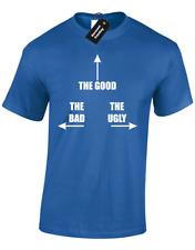 La buena malos y feos Mens T Shirt Funny Broma Despedidas De Soltero Gallina Fiesta eslogan película Tee