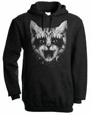 Heavy Metal Cat Men's Hoodie - Hooded Sweatshirt Grunge Heeavy Rock Glam
