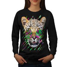 Cool Leopard Groove Women Sweatshirt NEW | Wellcoda