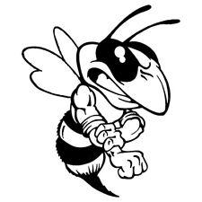 Böse Biene Wespe Hornisse Vespa Piaggio Aufkleber Sticker Decal 1 stck. 6 cm