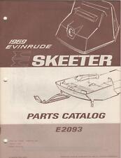 1969 EVINRUDE SKEETER SNOWMOBILE E2093  PARTS  MANUAL
