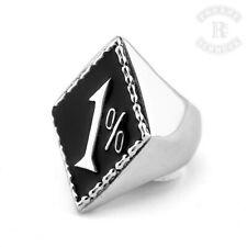 1%er Ring Edelstahl Onepercenter Ring  Rocker Biker Outlaw (R-002)
