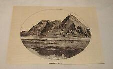1887 magazine engraving ~ DUMBARTON ROCK, Scotland