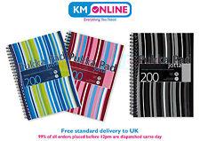 Pukka Pad A5 Black/Blue/Pink Stripes Jotta Notebook 200 Pages 80gsm Wirobound