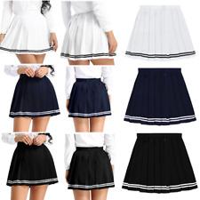 Women girls Tennis golf High Waist A-line Pleated Mini Skirt Uniform Short Skirt