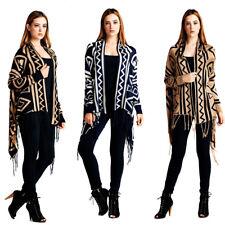 e555d88291 Velezra Womens Aztec Tribal Chic Long Sleeve Shrug Cardigan Wrap Jacket  Sweater