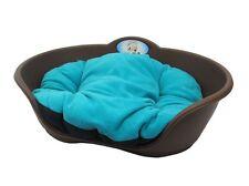 Heavy Duty Marrone Pet letto con color tè verde cuscino UK Fatto Cane o Gatto Cesto