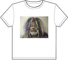 GEORGE CLINTON MUG SHOT T-SHIRT TEE PICTURE PHOTO mugshot p funk musician 952