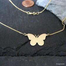 Schmetterling mit Flachpanzerkette in 333er Gelbgold, Falter, Butterfly - NEU