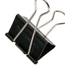 51mm Grande Acero Negro Papel Clips Foldback oficina documento Bulldog Agarre De Metal