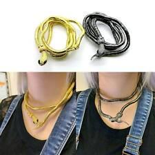 Snake Necklace Choker Bracelet Women Gold Black Ladies Costume Chain Fancy Dress