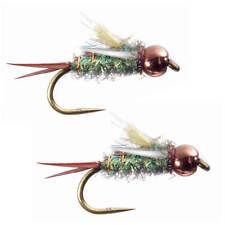 Umpqua Psycho Prince Gold Caddis Green 2 Pack Nymph Fly Fishing Flies