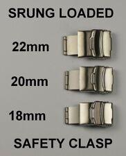 Lleno de muelles Hebilla De Seguridad botón de cierre de correas de cuero 18 mm 20 mm 22 mm nueva implementación