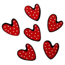 6 un. Mix día de San Valentín Amor Corazón Dorso Plano Cabujones Adorno Decoden Craft