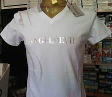 T-shirt uomo Angel Devil manica corta scollo V con stampa e borchie art 14010032