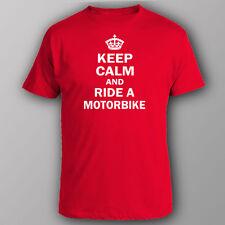 Funny T-shirt KEEP CALM AND RIDE A MOTORBIKE yamaha honda suzuki kawasaki
