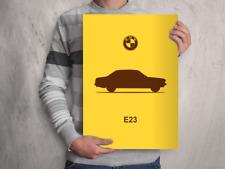 POSTER - BMW E23 7-Series - (A4 A3 A2 )  Car Silhouette