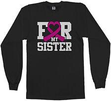 Threadrock Men's For My Sister Breast Cancer Awareness Long Sleeve T-shirt