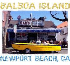 Balboa Island Boat Car- Newport Beach T Shirt