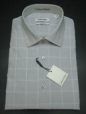 Calvin Klein Regular Fit Plaids Long Sleeve Dress Shirt Flint