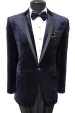 Men's Slim Fit Velour Velvet Suede Dinner Jacket One Button Sports Coat Blazer