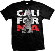 California Marilyn Cali Gun Pointing Sexy Swag Thong Fierce Mens T-shirt