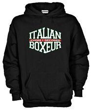 Felpa Italian Boxeur P31Arti Marziali Pugilato Kick Boxing Boxe Hoodie Muay Thai