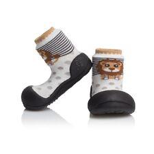 Attipas Zoo noir ergonomique Chaussures Enfants Nourrissons semelles antidérapantes